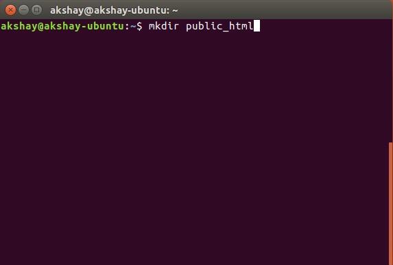 make public html folder inside home directory