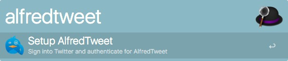 setup alfred tweet