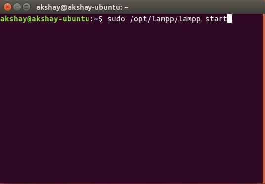 start xampp lampp server