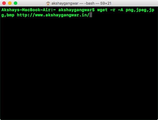 usa wget per scaricare più tipi di file con l'elenco di accettazione