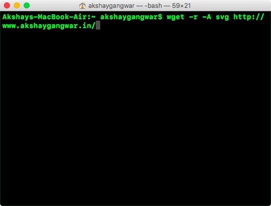 usa wget per scaricare tipi di file specifici