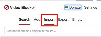 Wechseln Sie zur Registerkarte Importieren