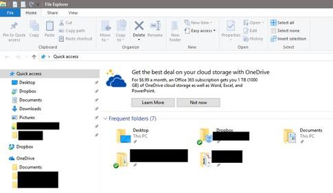 Windows 10 File Explorer Ads