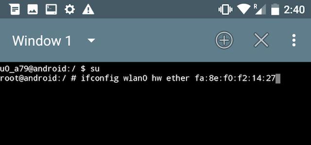 Come modificare l'indirizzo MAC nei dispositivi Android
