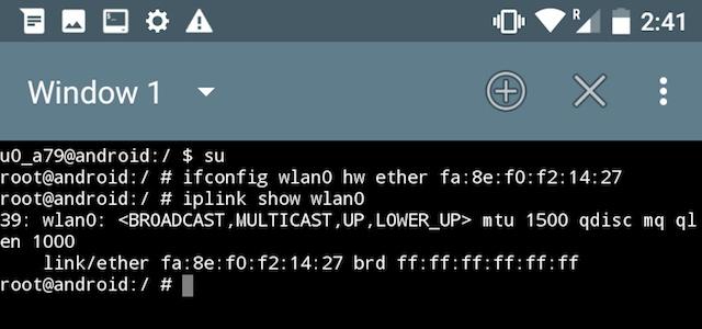 Change mac address software