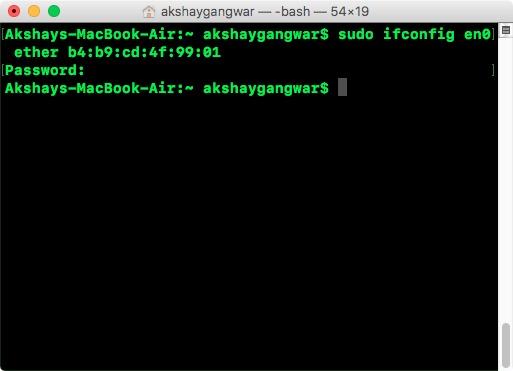 Mac'te Kolayca MAC Adresi Nasıl Değiştirilir