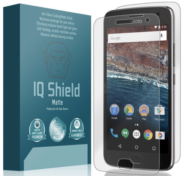 iq shield moto g5 plus screen protector