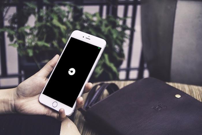 uber app white iphone
