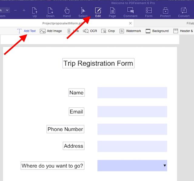 PDFelement 6 ile Mac'inizde Kolayca Doldurulabilir PDF Formları Nasıl Oluşturulur