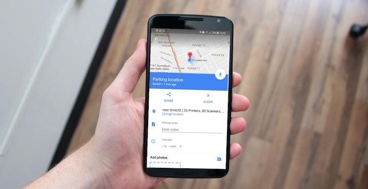 google maps save parking location