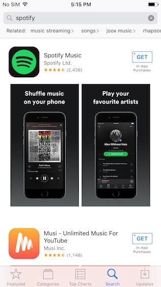 İOS'ta Hindistan'da Spotify Nasıl İndirilir
