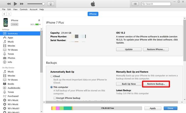 Como recuperar contatos excluídos no iPhone