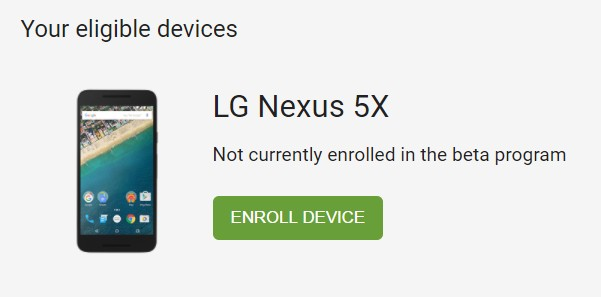 Enroll device Android O Beta