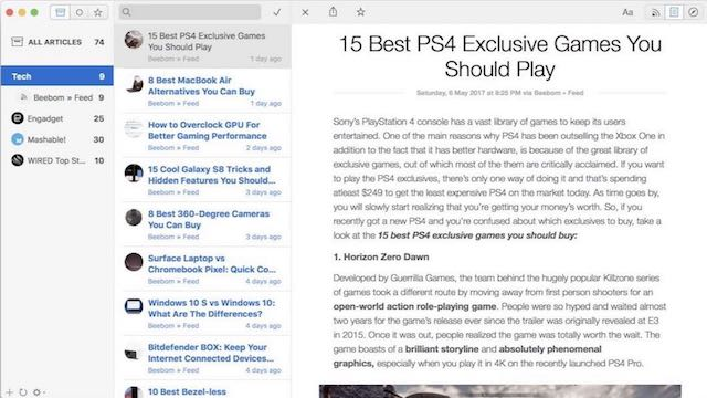 6 Best RSS Feed Readers For Mac You Can Use