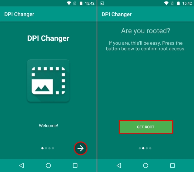 DPI Changer Start and Root Checker