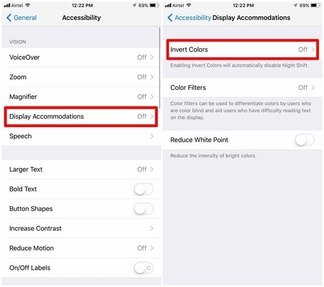 Come abilitare la modalità oscura nascosta in iOS 11