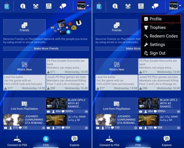 PlayStation App-Profil bearbeiten