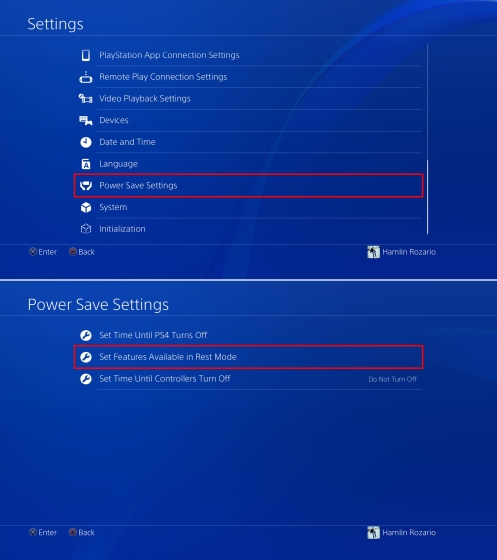 Power Save Settings and Rest Mode