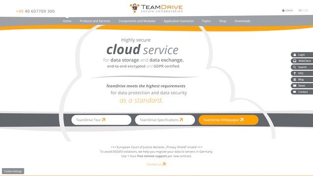10. TeamDrive - Productivity-Centric Cloud Storage Service
