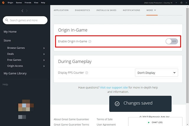 How to Turn Off Origin In-Game Overlay