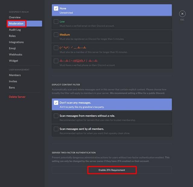 Comment activer l'authentification à deux facteurs sur votre serveur Discord