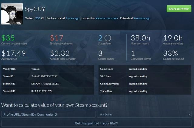 Steam Value