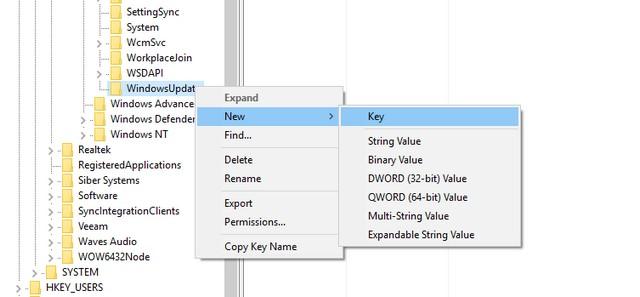 WindowsUpdate Key