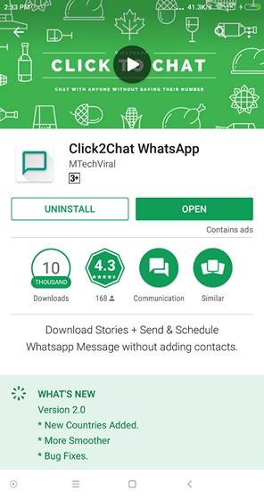 Click 2 Chat App