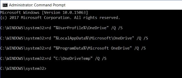 File Sisa OneDrive Prompt Perintah
