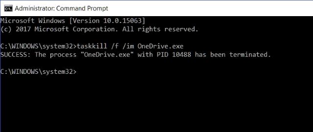 Command Prompt Hentikan OneDrive