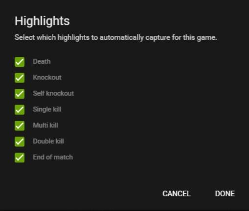 Customize Highlights