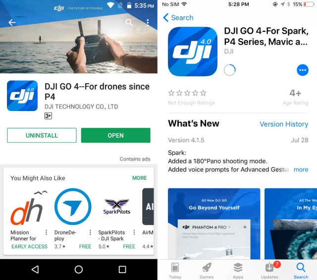 DJI GO 4 App for Smartphones