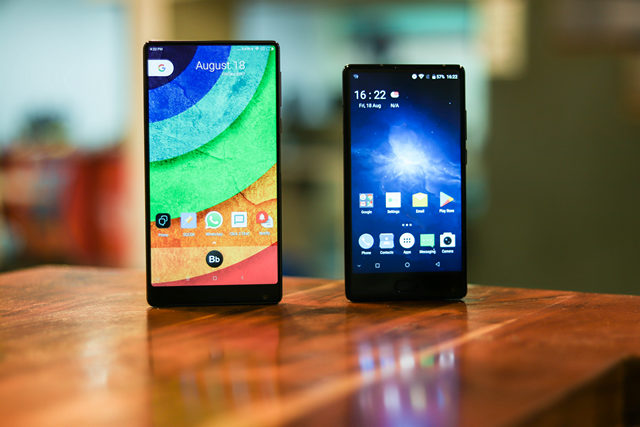 Doogee Mix and Xiaomi Mi Mix - Design