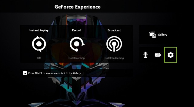GeForce Experience Settings