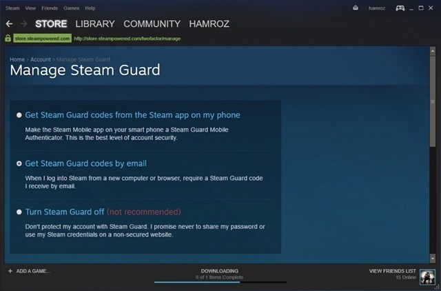 Steam-Guard-Turned-On