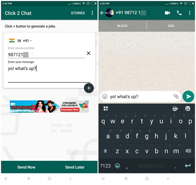 How to Send WhatsApp Messages Without Adding Contact | Beebom
