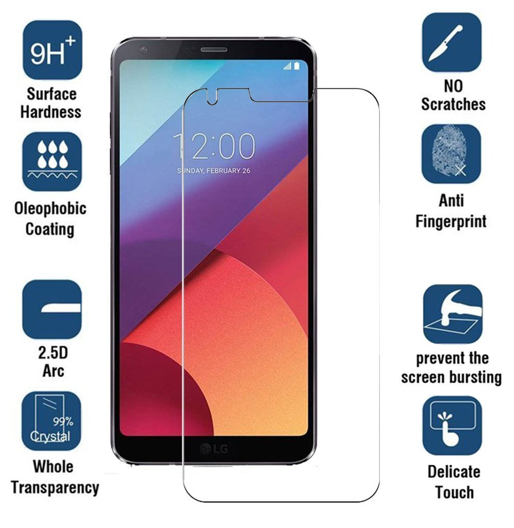 Wellci LG V30 Tempered Glass Screen Protector