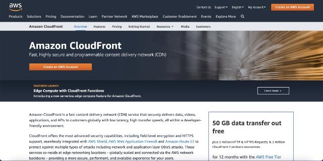 amazon cloudfront - best cloudflare alternatives