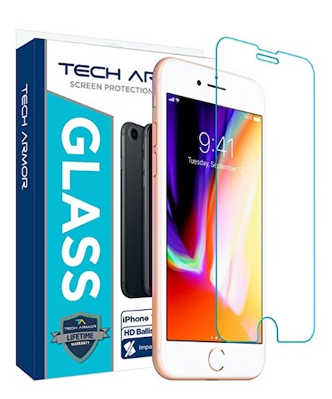 6. Tech Armor iPhone 8 Ballistic Glass Screen Protector