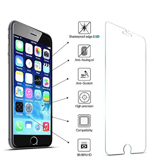 7. GANJOY iPhone 8 Screen Protector Glass