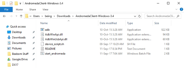 Andromeda Client Extracted