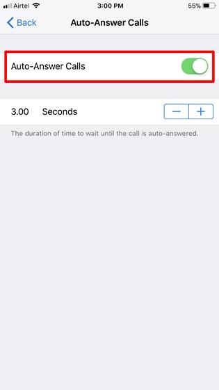 Auto Answer Calls in iOS 11 - 3