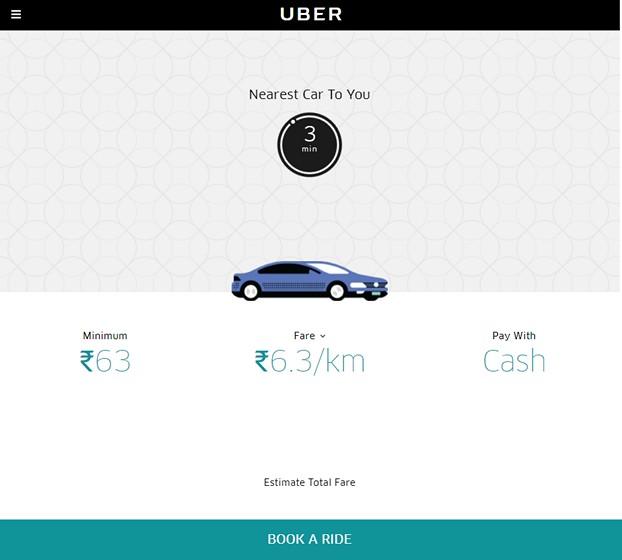 Book Uber Web