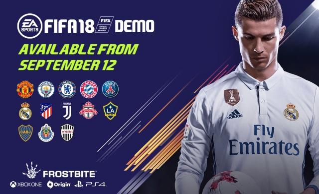 Dimostrazione di FIFA 18 in uscita