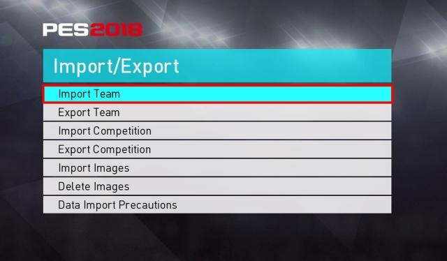 Import Team