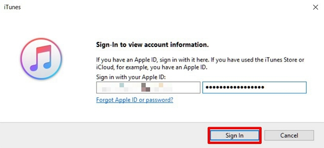 Log in with Apple ID