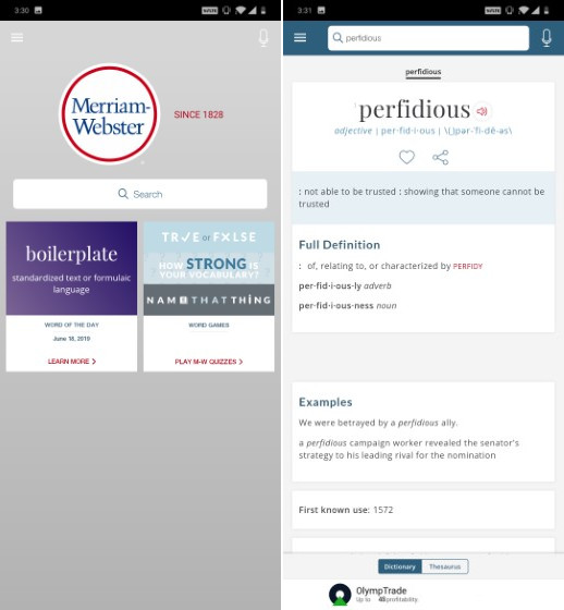 Merriem Webster