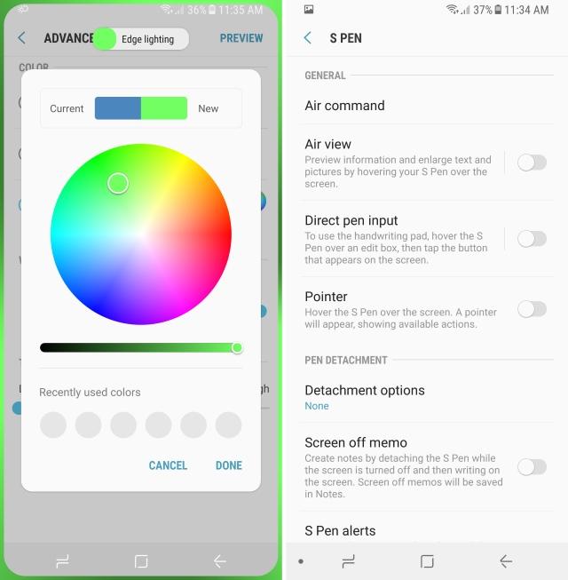Nota 8 app aggiunte