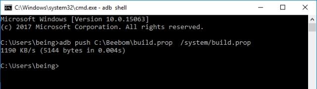 build.prop dosyasını itin