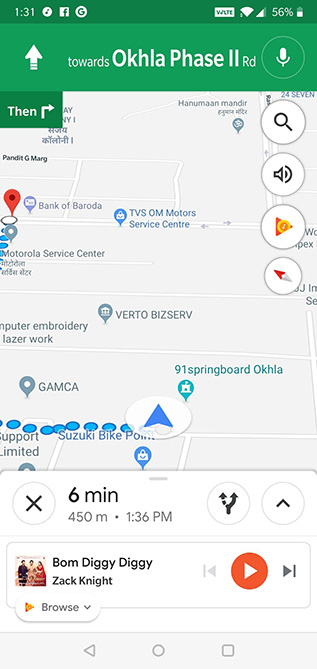 Google Maps tips and tricks: media playback controls in navigation
